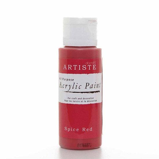 Akrylfärg - Spice Red