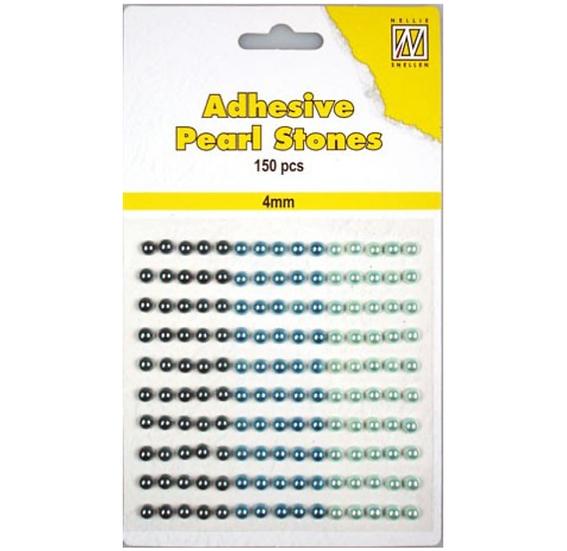 Adhesive Pearl Stones – Blå