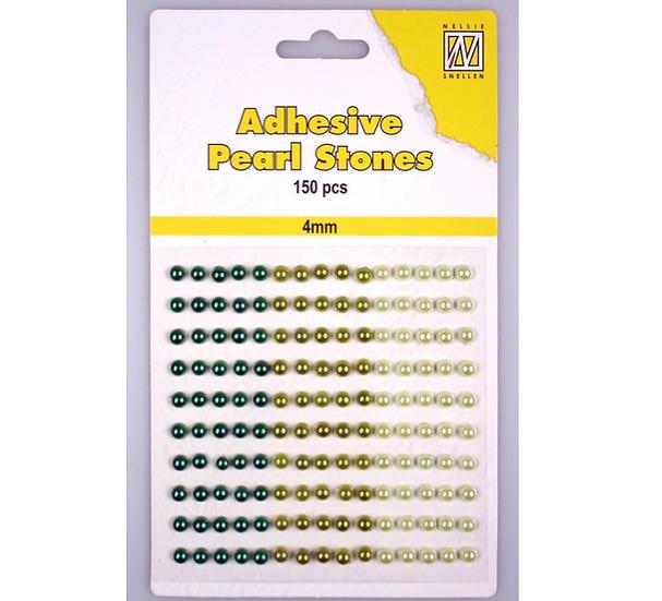 Adhesive Pearl Stones – Grön