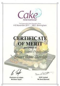 2011 Certificate