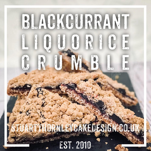 Blackcurrant Liquorice Crumble