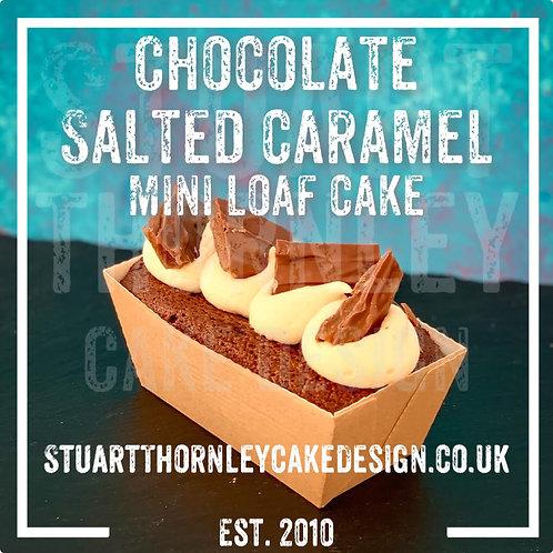Chocolate Salted Caramel Mini Loaf Cake