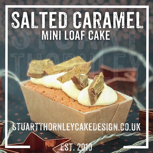 Salted Caramel Mini Loaf Cake