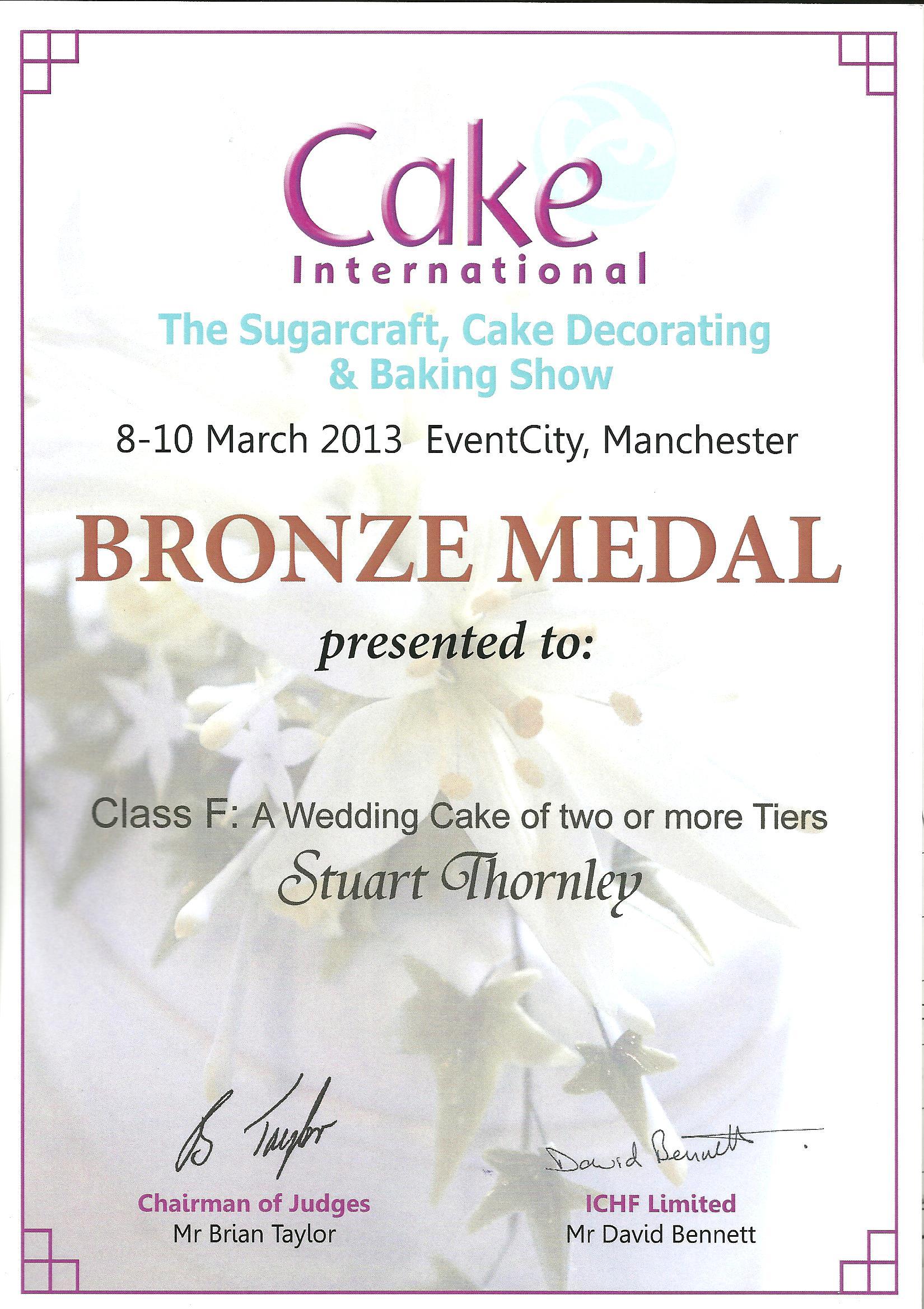 Certificate 2013