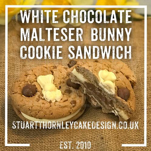 White Chocolate Malteser Bunny Cookie Sandwich