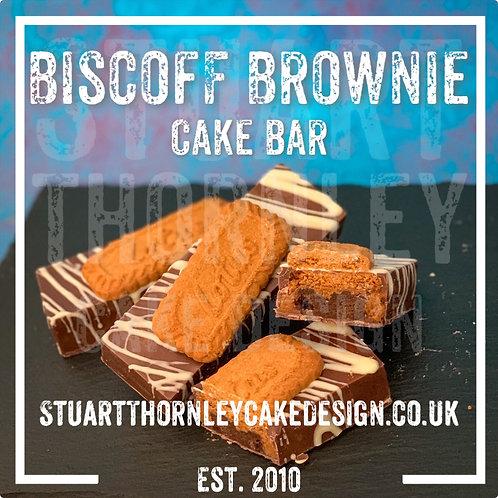Biscoff Brownie Cake Bar