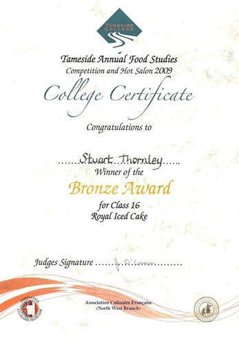 2009 Certificate 2
