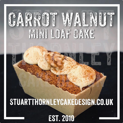 Carrot Walnut Mini Loaf Cake