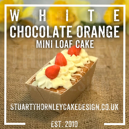 White Chocolate Orange Mini Loaf Cake