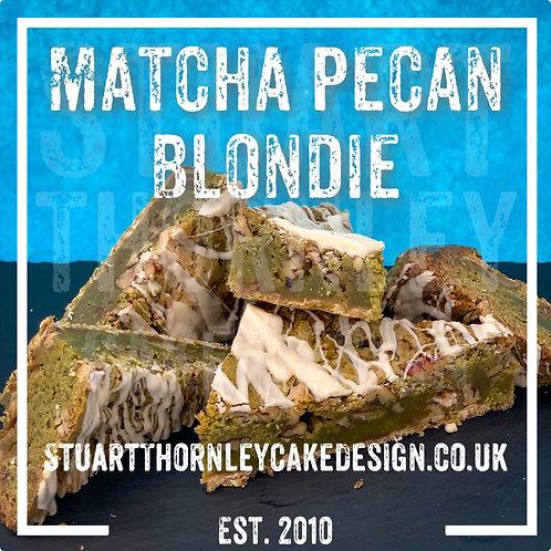 Matcha Pecan Blondie