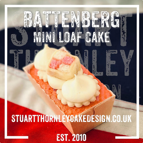 Battenberg Mini Loaf Cake