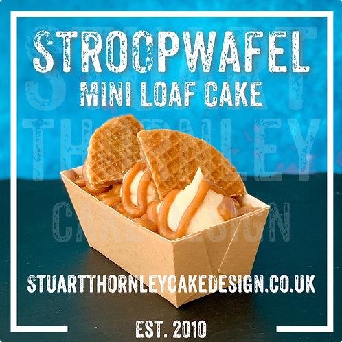 Stroopwafel Mini Loaf Cake
