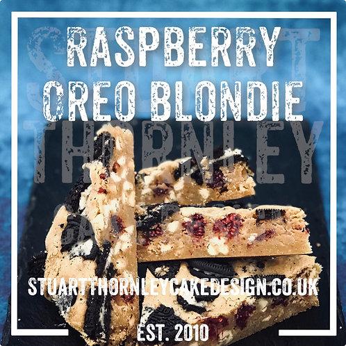 Raspberry Oreo Blondie