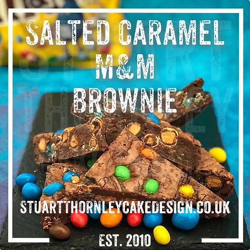 Salted Caramel M&M Brownie