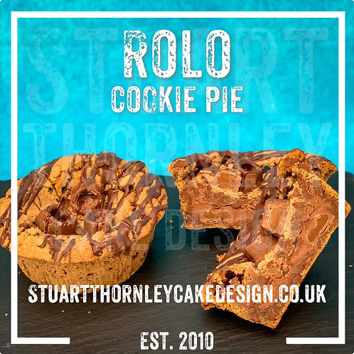 Rolo Cookie Pie