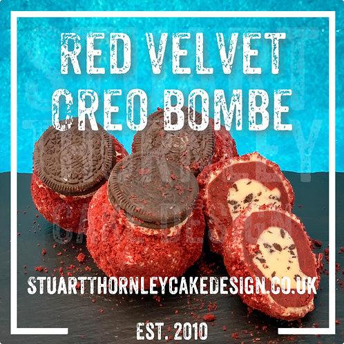 Red Velvet Oreo Bombe