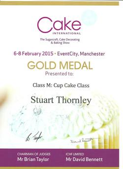 Gold Cupcake 2015