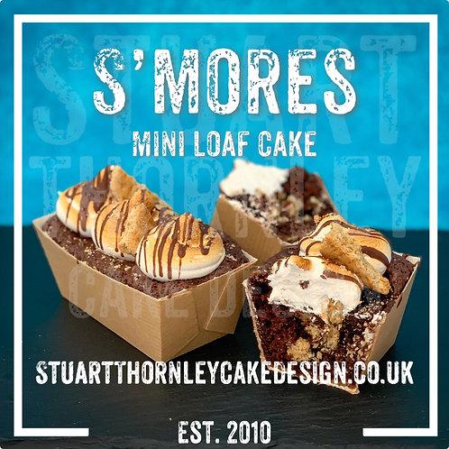 S'Mores Mini Loaf Cake