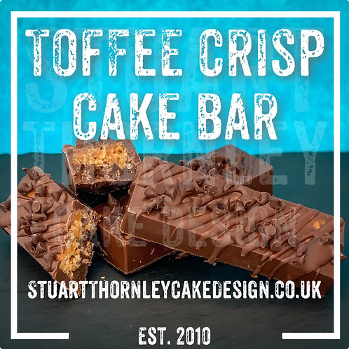 Toffee Crisp Cake Bar