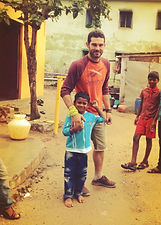 Actor Oryan Landa in Tamil Nadu, India with The Miracle Foundation