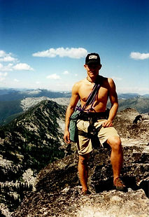 Actor Oryan Landa - rock climbing Chimney Rock in north Idaho