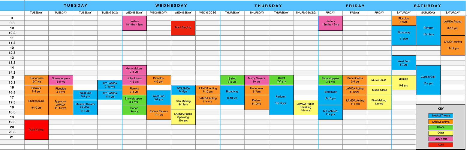 Evolve Arts Timetable.png