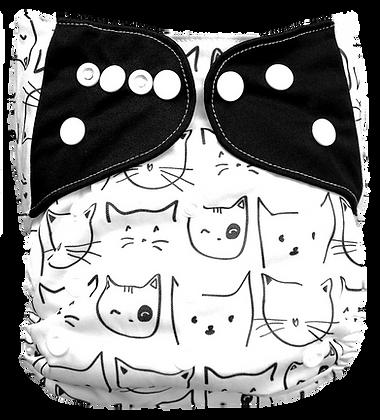 Pañal Ecologico Gatos Negro