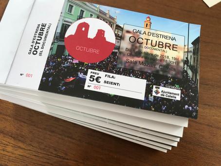Demà surten a la venda les entrades per l'estrena del Documental Octubre