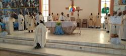 Prière par Mgr Faustin Ambassa