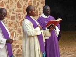 Bénédiction du Cimetière des Oblats à Ga