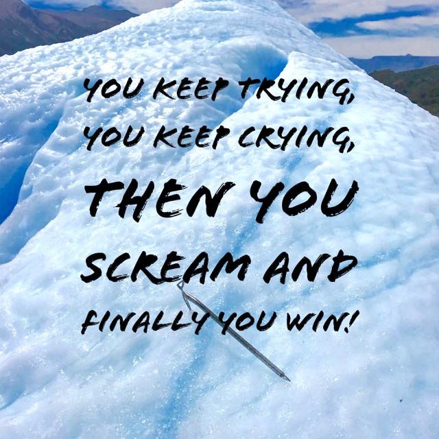 Win, succeed, keep trying, success