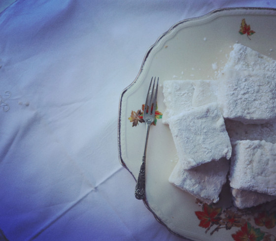 Elderflower and Rose Marshmallows with real marshmallow root.