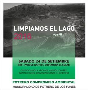 CONVOCATORIA: ESTE SÁBADO LIMPIAMOS EL LAGO... LIMPIAMOS PARA MANTENERLO LIMPIO