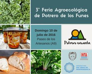 Feria agroecológica: Este domingo 10 de Julio en el Paseo de los Artesanos