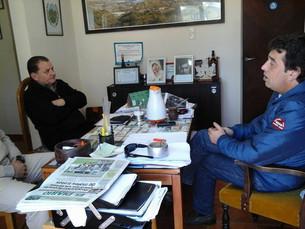 CORTES DE LUZ EN POTRERO: el Intendente Daniel Orlando mantuvo una reunión con funcionarios de Edesa