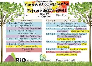 FESTIVAL CONSCIENTE – 28 Y 29 DE OCTUBRE- PARQUE NATIVO