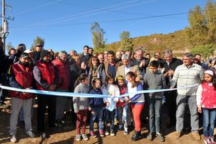 """""""Con esta  obra garantizamos el desarrollo, el crecimiento y la inversión en Potrero de los Funes"""" -"""
