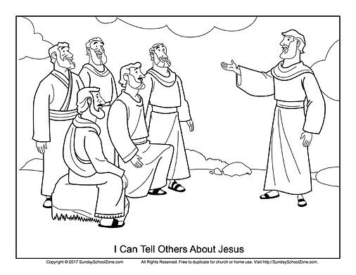 Jesus Talks to Disciples Coloring 4-21-2