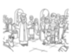 Peter and cornelius coloring page, pdf.j