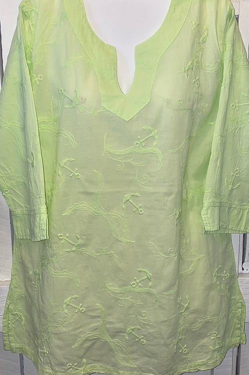Embroidered Blouse in Lime