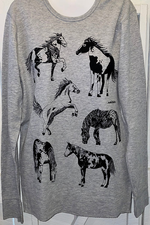 Horse Thermal in Grey
