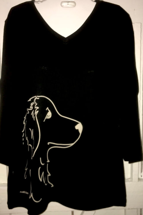 Long Haired Dog Shirt in Black