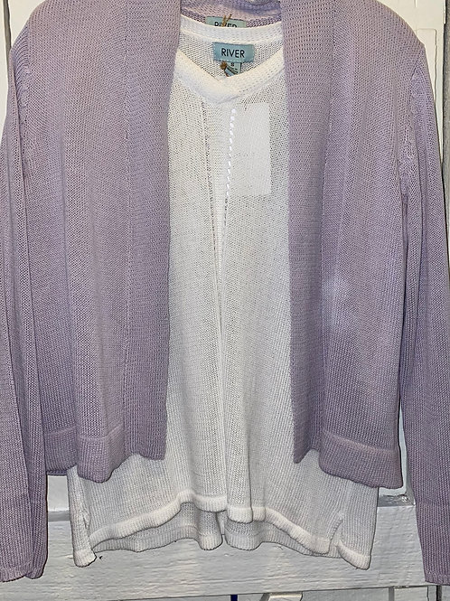 Knit Short Sweater in Lavender