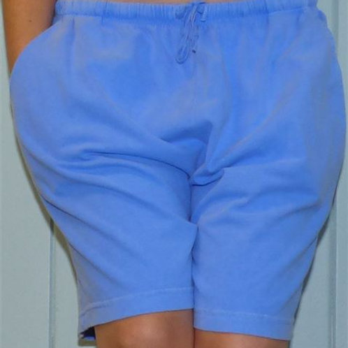 Cotton Shorts With Drawstrings In Waist In Peri