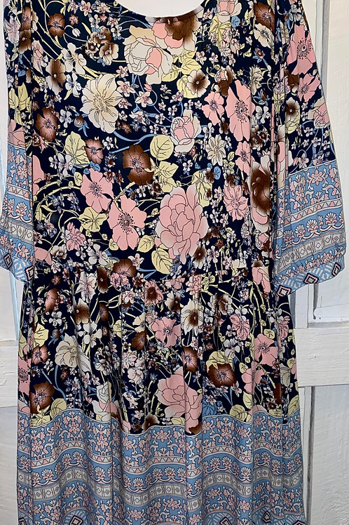 Floral Mix Blouse in Light Pink