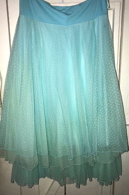 Layered Lace Skirt in Sky Blue