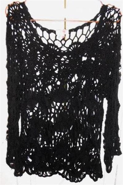 Crochet Top In Black