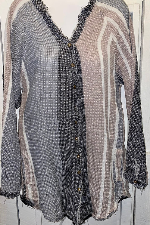 Button up Tunic in Taupe