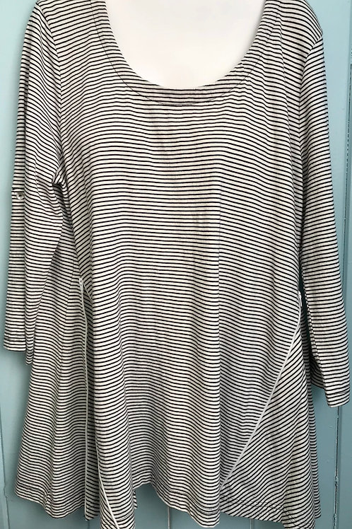 Albury Stripe Zip Up Blouse