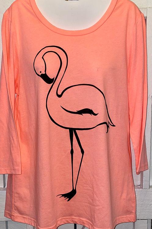 Flamingo in Peach